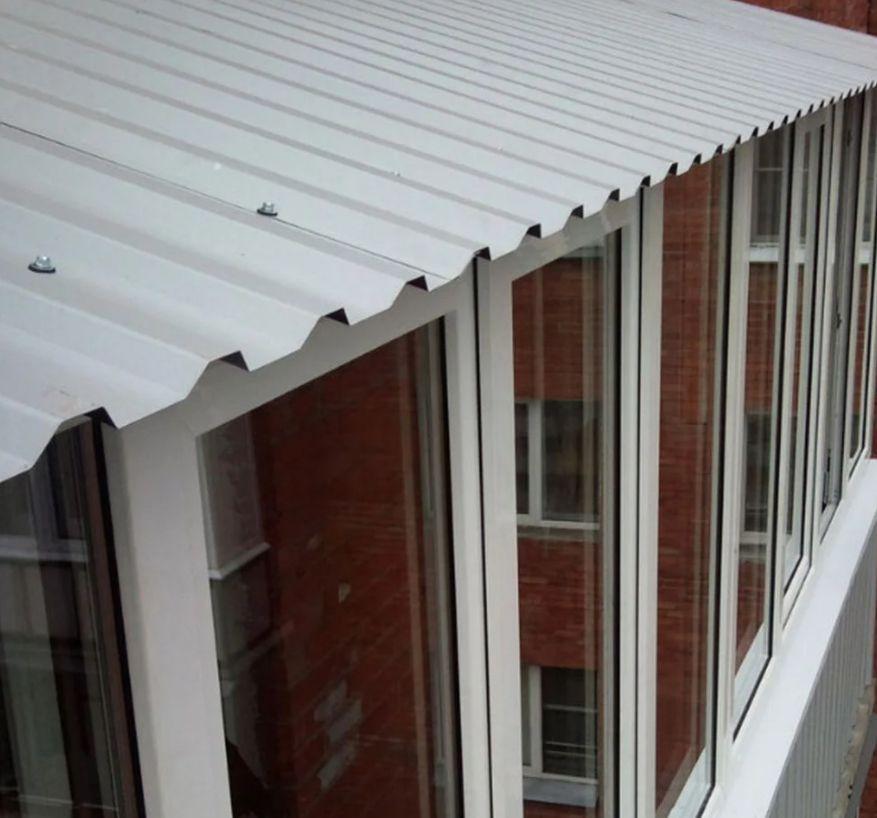 Крыша на балкон под ключ. Козырек на балкон