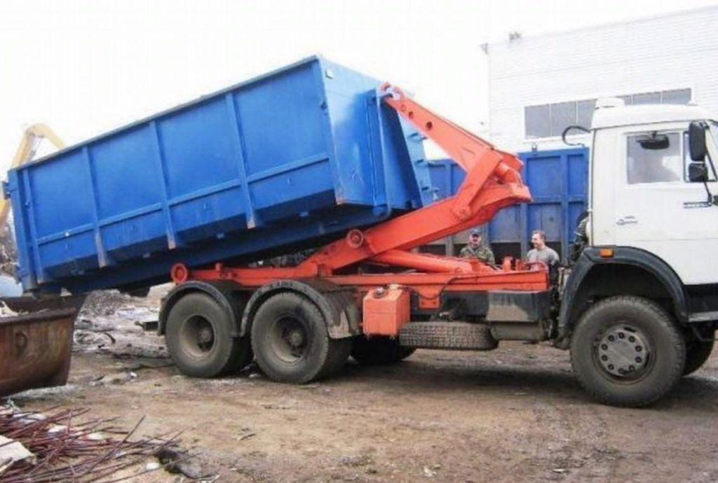 Вывоз мусора контейнером для отходов 20м3