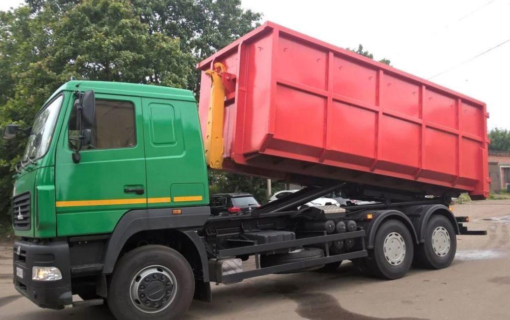 Вывоз мусора контейнером 8, 20, 27 м3