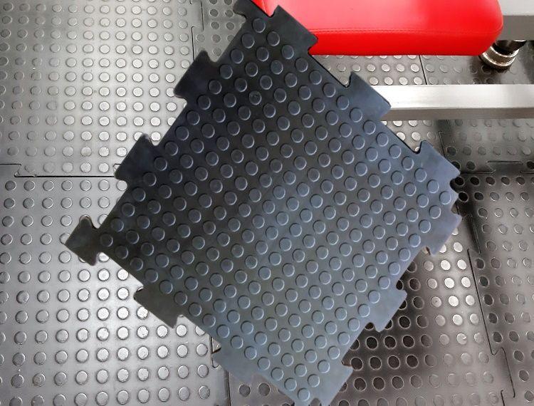 Плитка резиновая модульная РезиПлит Double rubber для мастерских